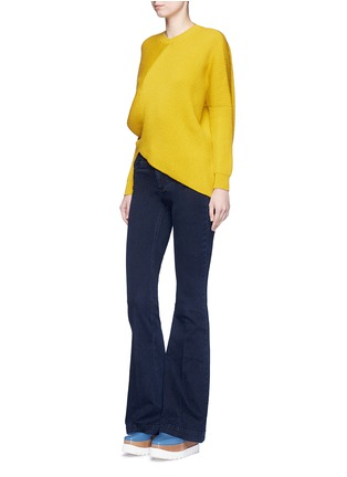 Figure View - Click To Enlarge - Stella McCartney - Flared leg cotton denim pants