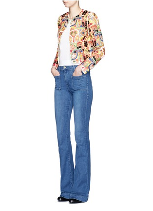 alice + olivia - 'Kidman' mix embroidery jacket