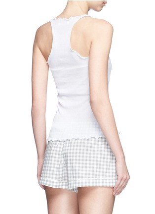 Back View - Click To Enlarge - Araks - Ruffle cotton rib jersey tank top