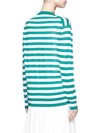 背面 - 点击放大 - DOLCE & GABBANA - 菠萝缀饰羊绒混丝条纹针织衫