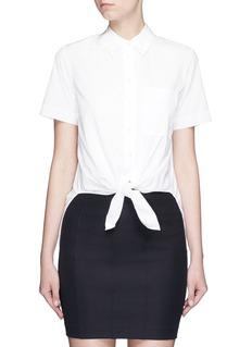 Theory'Hekanina' tie front cotton shirt