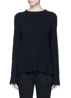 Helmut Lang Belted open back cotton-cashmere sweater