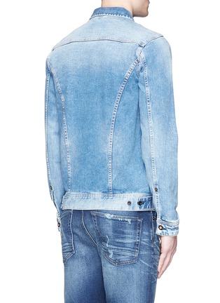 Back View - Click To Enlarge - Denham - 'Amsterdam' denim jacket