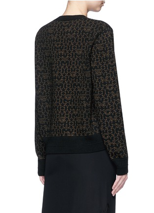 Back View - Click To Enlarge - Givenchy Beauty - Star logo print wool-cashmere sweater