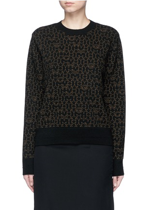 Main View - Click To Enlarge - Givenchy Beauty - Star logo print wool-cashmere sweater