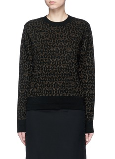 Givenchy Star logo print wool-cashmere sweater