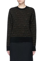Star logo print wool-cashmere sweater