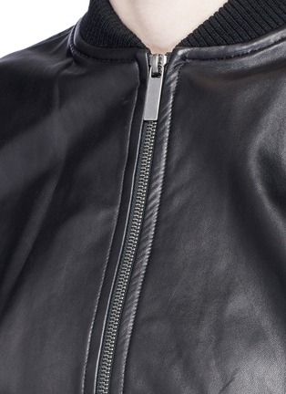 Detail View - Click To Enlarge - Helmut Lang - Lambskin leather bomber jacket