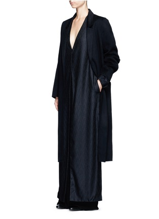 Figure View - Click To Enlarge - The Row - 'Muan' wavy leaf cloqué cashmere-silk coat