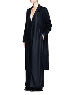THE ROW'Muan' wavy leaf cloqué cashmere-silk coat