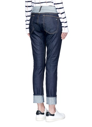 Back View - Click To Enlarge - rag & bone/JEAN - 'The Dre' reverse patchwork slim boyfriend jeans