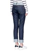 'The Dre' reverse patchwork slim boyfriend jeans