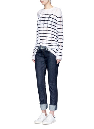 Figure View - Click To Enlarge - rag & bone/JEAN - 'The Dre' reverse patchwork slim boyfriend jeans
