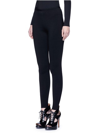 Front View - Click To Enlarge - Alaïa - 'Supreme' wool blend leggings