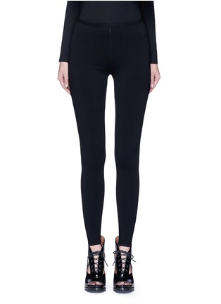 Main View - Click To Enlarge - Alaïa - 'Supreme' wool blend leggings