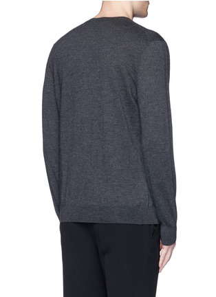 Back View - Click To Enlarge - Alexander McQueen - Skull embroidery cashmere sweater