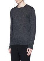 Skull embroidery cashmere sweater