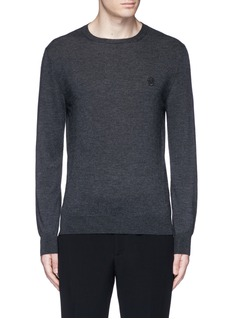 Alexander McQueenSkull embroidery cashmere sweater