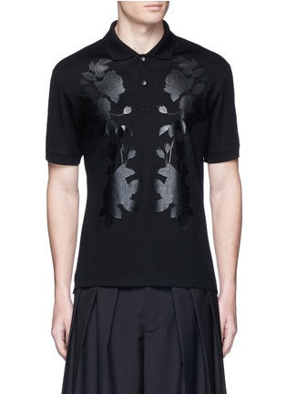 Main View - Click To Enlarge - Alexander McQueen - Floral print polo shirt