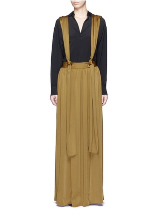 Lanvin - Knotted suspender crepe maxi skirt