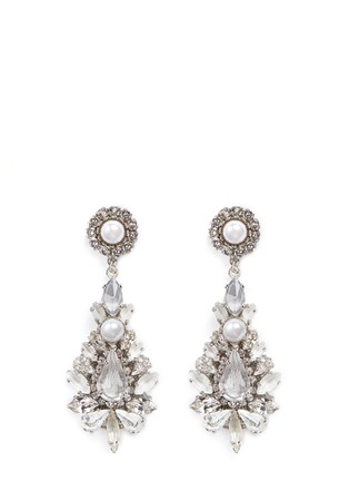 Main View - Click To Enlarge - Erickson Beamon - 'Til Death Do Us Part' Swarovski crystal glass pearl earrings