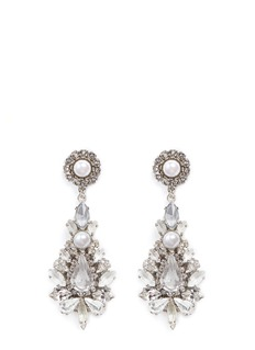 Erickson Beamon 'Til Death Do Us Part' Swarovski crystal glass pearl earrings