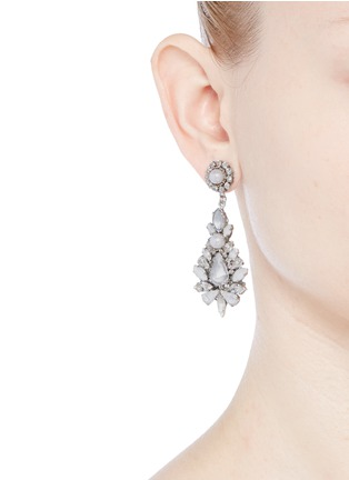 Figure View - Click To Enlarge - Erickson Beamon - 'Til Death Do Us Part' Swarovski crystal glass pearl earrings