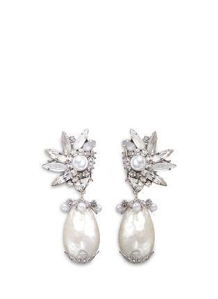 Erickson Beamon - 'Til Death Do Us Part' Swarovski crystal Baroque pearl earrings