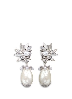 Erickson Beamon 'Til Death Do Us Part' Swarovski crystal Baroque pearl earrings