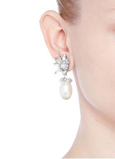 Erickson Beamon'Til Death Do Us Part' Swarovski crystal Baroque pearl earrings