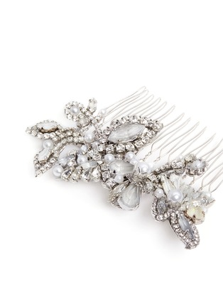 Detail View - Click To Enlarge - Erickson Beamon - Swarovski crystal glass pearl hair comb