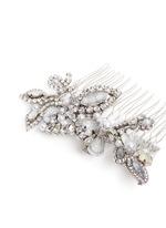 Swarovski crystal glass pearl hair comb