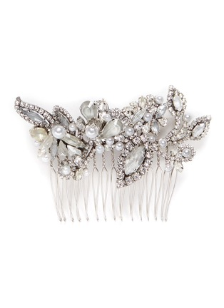 Main View - Click To Enlarge - Erickson Beamon - Swarovski crystal glass pearl hair comb