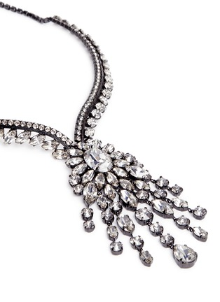 Detail View - Click To Enlarge - Erickson Beamon - Swarovski crystal fringe statement necklace