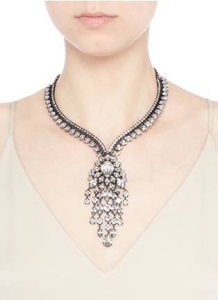 Figure View - Click To Enlarge - Erickson Beamon - Swarovski crystal fringe statement necklace