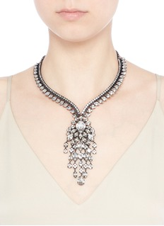 Erickson BeamonSwarovski crystal fringe statement necklace