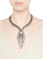 Swarovski crystal fringe statement necklace