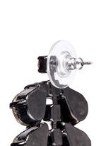'Frequent Flyer' Swarovski crystal teardrop cluster earrings
