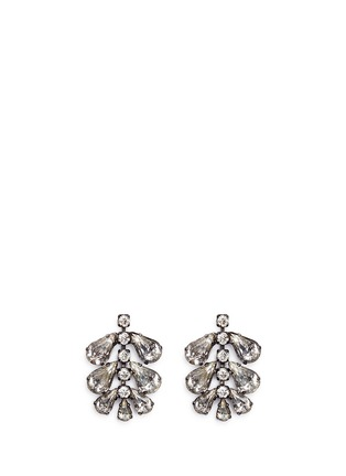 Main View - Click To Enlarge - Erickson Beamon - 'Frequent Flyer' Swarovski crystal teardrop cluster earrings