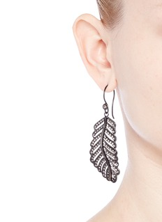 Erickson Beamon 'Frequent Flyer' Swarovski crystal pavé feather earrings