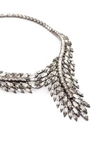 'Frequent Flyer' Swarovski crystal feather necklace