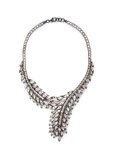 Erickson Beamon'Frequent Flyer' Swarovski crystal feather necklace