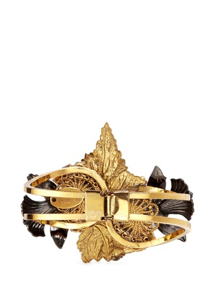Figure View - Click To Enlarge - Erickson Beamon - 'Milky Way' 24k gold plated brass Swarovski crystal cuff