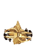 'Milky Way' 24k gold plated brass Swarovski crystal cuff