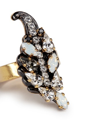 Detail View - Click To Enlarge - Erickson Beamon - 'Milky Way' Swarovski crystal 24k gold plated brass ring