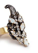 'Milky Way' Swarovski crystal 24k gold plated brass ring