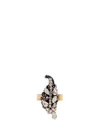 Main View - Click To Enlarge - Erickson Beamon - 'Milky Way' Swarovski crystal 24k gold plated brass ring