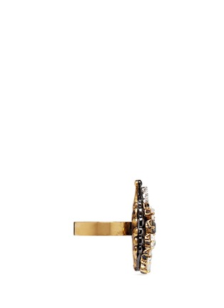Figure View - Click To Enlarge - Erickson Beamon - 'Milky Way' Swarovski crystal 24k gold plated brass ring