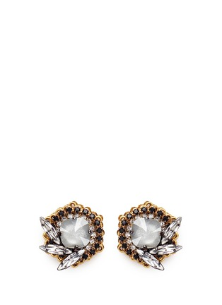 Main View - Click To Enlarge - Erickson Beamon - 'Milky Way' 24k gold plated Swarovski crystal stud earrings