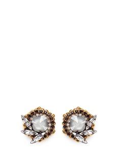 Erickson Beamon'Milky Way' 24k gold plated Swarovski crystal stud earrings